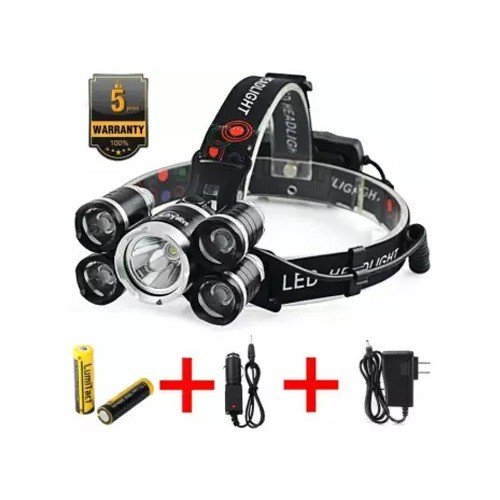 SUPER BRIGHT 3 LED RECHARGEABLE HEADLAMP