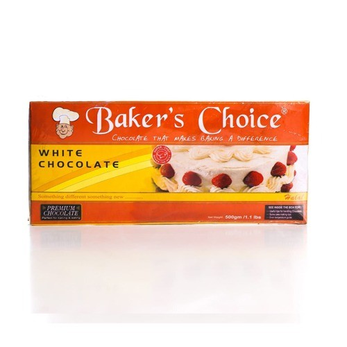 BAKERS CHOICE WHITE CHOCOLATE (500 GMS)