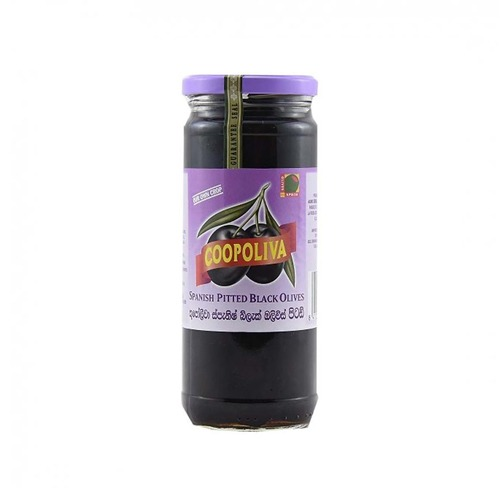 COOPOLIVA SPANISH PITTED BLACK OLIVE (142 GMS)