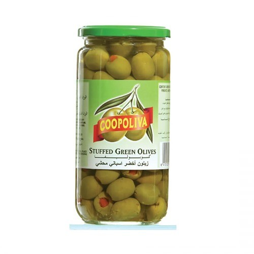 COOPOLIVA SPANISH PITTED GREEN OLIVE (345 GMS)