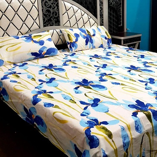 PURE COTTON BEDSHEET (FULL PRINTED) - BLUE