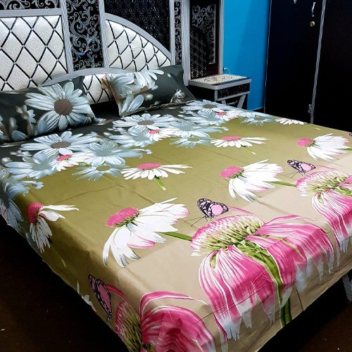 PURE COTTON BEDSHEET (FULL PRINTED) - FLOWERS