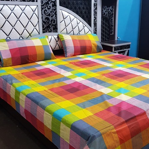 PURE COTTON BEDSHEET (FULL PRINTED) - MULTI