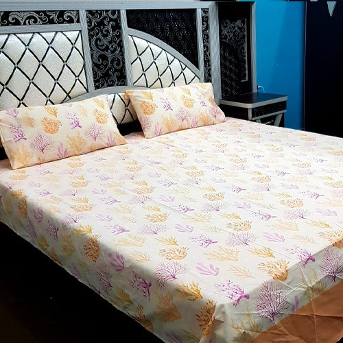 PURE COTTON BEDSHEET (FULL PRINTED) - TREE