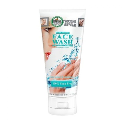 HOLLYWOOD STYLE DUAL ACTION FACE WASH, CUCUMBER & CITRUS (150 ML)