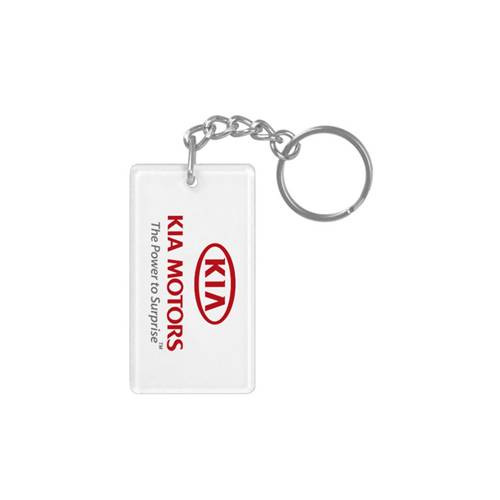 KEY CHAIN - TRANSPARENT WITH LOGO