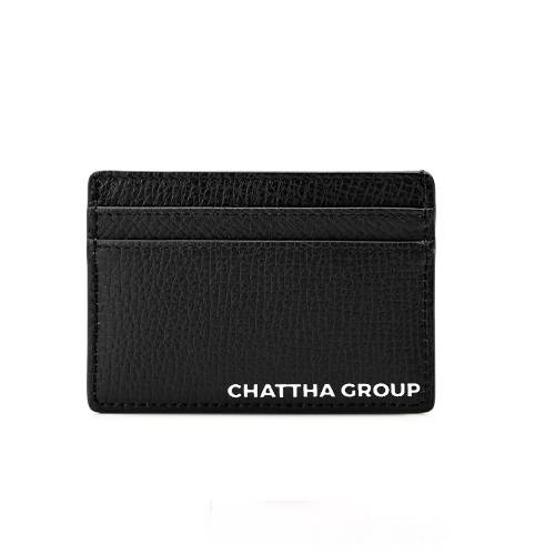 LEATHER CARD HOLDER WITH COMPANY NAME EMBOSS (A QUALITY)