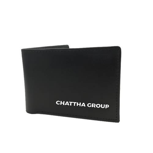 LEATHER WALLET WITH COMPANY NAME EMBOSS (A QUALITY)