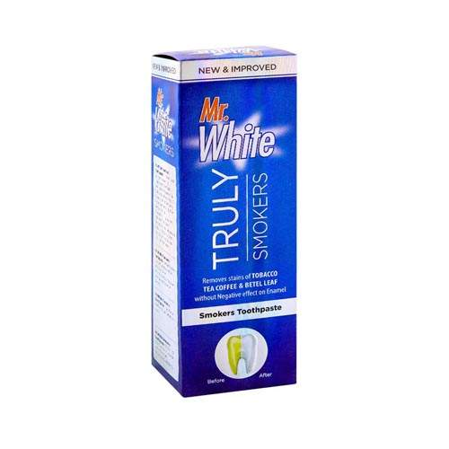 MR WHITE TRULY SMOKERS TOOTHPASTE (120 GMS)
