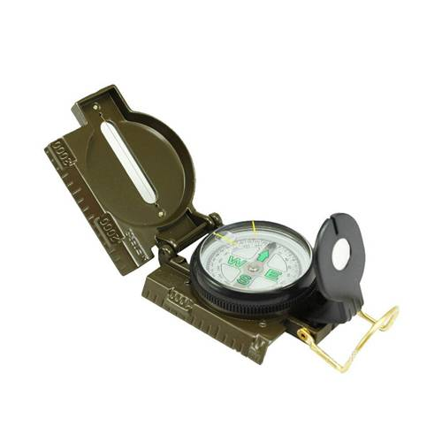 PORTABLE MILITARY COMPASS MULTIFUNCTION ARMY GREEN FOLDING LENS COMPASS