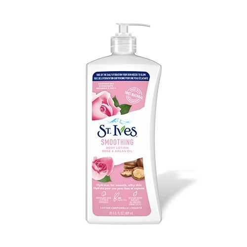 ST IVES BODY LOTION - SMOOTHING WITH ROSE AND ARGAN OIL (621 ML)