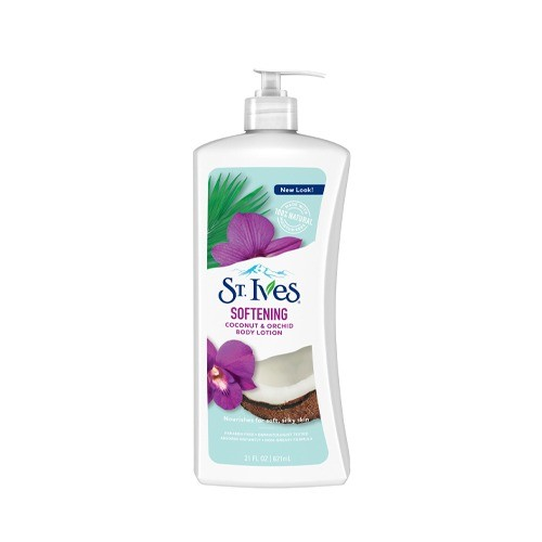 ST IVES BODY LOTION - SOFTENING COCONUT AND ORCHID (621 ML)